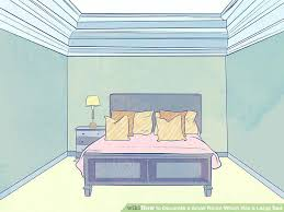 image titled decorate small. Brilliant Titled Queen Bed In Small Room Image Titled Decorate A Which Has  Large Step 6 Size Frame For On I