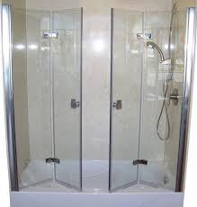 tri fold glass shower doors furniture 1 alluring bifold glass shower door 14 bifold glass