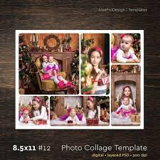 photo collage template x 6 storyboard with normal rounded corners photographer creative psd free