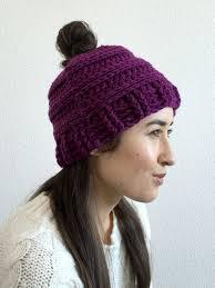Ponytail Beanie Crochet Pattern