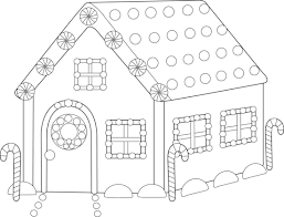 Small Picture Gingerbread House Coloring Page Free Clip Art
