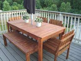 simple outdoor dining table diy patio