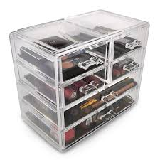 storage case display 2 large and 4 small drawer case