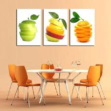 unframed 3 panels canvas oil wall art fruit decor painting for home kitchen decorative fruit wall decor