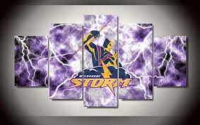 unframed 5 pcs set melbourne storm modern home wall decor canvas picture art hd print on wall art painting melbourne with unframed 5 pcs set melbourne storm modern home wall decor canvas