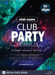 Poster Design Party Party Flyer Poster Futuristic Club Flyer Design Template