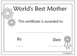 Printable Mothers Day Certificate Template Being A Social Worker