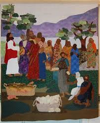 13 best Jesus Quilt Ideas and Tutorials images on Pinterest ... & 'Miracle of the Loaves and Fishes' - Media - Quilting Daily Adamdwight.com