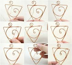 how to make a wire wrapped pendant make your own necklace pendant in a triangle