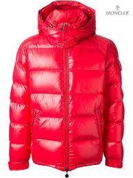 Moncler Red Mens Maya  Padded Jackets Jacket Emotionally
