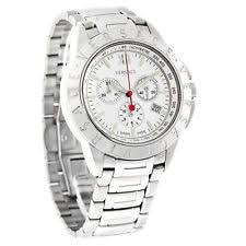 versace watch men versace v sport mens silver dial swiss quartz chronograph watch 12c99d001s099