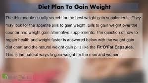 Weight Gain Diet Chart Pills To Regain Health Faster Treat