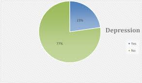 Depression Chart Pie Chart For The Distribution Of Depression Among Pregnant