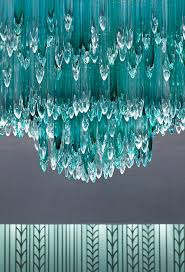 contemporary chandelier glass stainless steel led icefalls pertaining to contemporary home teal chandelier light ideas