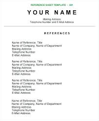 Resume Reference Example Cool Examples Of Character References For Resume Reference Sample