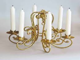 image of candle chandelier non electric choice