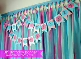 Diy Birthday Decorations Easiest Ever Diy Birthday Banner Part 2 Rain On A Tin Roof