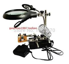 a magnifying glass with lamp magnifying glass desktop magnifier motherboard pcb repair with auxiliary tool a magnifying glass order 18no tr motherboard