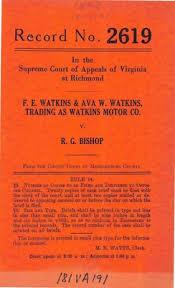 "F.E. Watkins and Ava Watkins, Trading as Watkins Motor Company v. R.G."""
