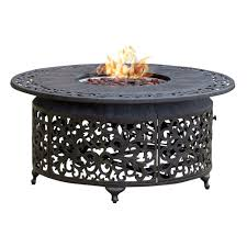 fp 251 round outdoor propane fire pit table