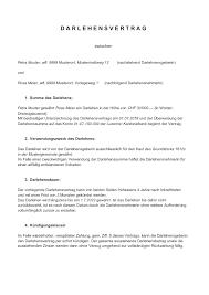 Auf einen schriftlichen vertrag sollten allerdings beide parteien bestehen. Darlehensvertrag Vorlage Schweiz Downladen Word Gratis Vorlage