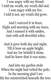 17 best images about poetry rudyard kipling john a poison tree william blake this was on a compare contrast essay at school and i loved it