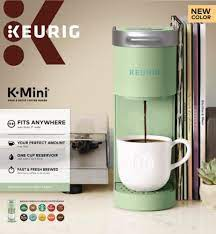 Upgrade mini single serve coffee maker for k cup pods and ground coffee by sboly, 90s quick brewing technology, k cup brewer small coffee machine for travel, black 4.5 out of 5 stars 291. Keurig K Mini Single Serve Coffee Maker Chill Green 1 Ct Fred Meyer