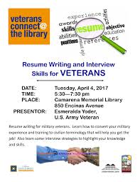Resume Writing Services For Veterans Resume Template