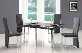 Modern Dining Room Set Elegant Modern Dining Room Furniture Black Glass Top Table