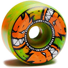 Spitfire Afterburners Conical Ccscom Spitfire F4 99 Afterburners Skateboard Wheels Orangegreen 53mm
