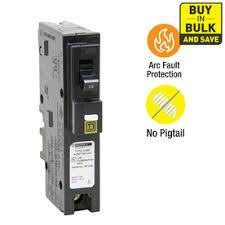 shop circuit breakers load centers fuses at lowes com square d homeline 15 amp 1 pole combination arc fault circuit breaker