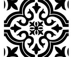 tile18 reusable lasercut floor fireplace step or wall tile stencil black and white floor stencils l40 stencils