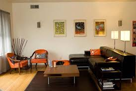 Orange Chairs Living Room Orange And Brown Living Room Fancy Design Ideas Living Room Decor