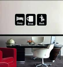 wall decorations for office office wall decor office decor sleep drink work decoration wall decal for wall decorations for office