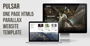 Parallax Website Template Stunning Pulsar One Page HTML28 Parallax Website Template On Behance
