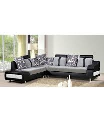 rej 3 piece luxury black 7 seater sofa