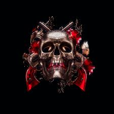 Skull 4K Wallpaper, 3D, Black ...