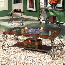 steve silver ellery rectangle wood and glass top coffee table hayneedle