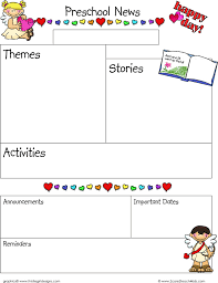 February Newsletter Template 3 Preschool Newsletter Template Free Download
