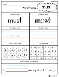 Sight Word Worksheets Printable Free Coloring Pages For Kindergarten