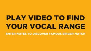 Find Your Vocal Range Famous Singer Match