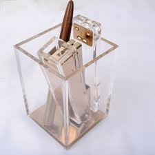 modern office accessories. Crystal Pen Pencil Holder Acrylic Stationery Desk Organization Caddy Modern Office Accessories Clear With Rose Gold Bottom-in Holders From