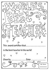 Coloring Pages The Best Holidays Teacher Appreciation World