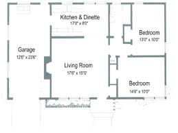 Small 2 Bedroom Homes For Small House Plans With Garage Small House Floor Plans Without