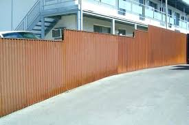 corrugated metal fence panels how