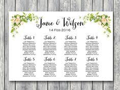 176 Best Wedding Seating Chart Printable Images