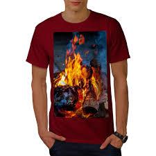 Bonfire T Shirt Design Wellcoda Fire Coal Camping Mens T Shirt Bonfire Graphic Design Printed Tee High Quality Custom Printed Tops Hipster Tees T Shirt Interesting T Shirt