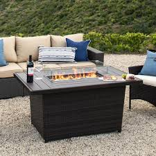 52in wicker propane fire pit table 50