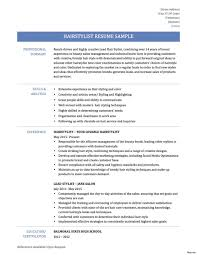 Hair Stylist Job Description Resume Impressive Hair Stylist Resume Examples Withemplates And Job 24