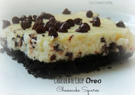 chocolate chip oreo cheesecake squares